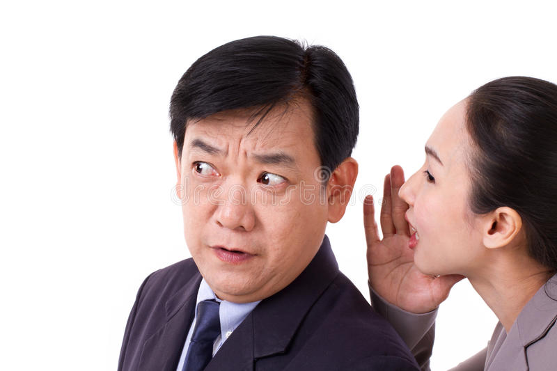 Business people talking about bad business news stock photos