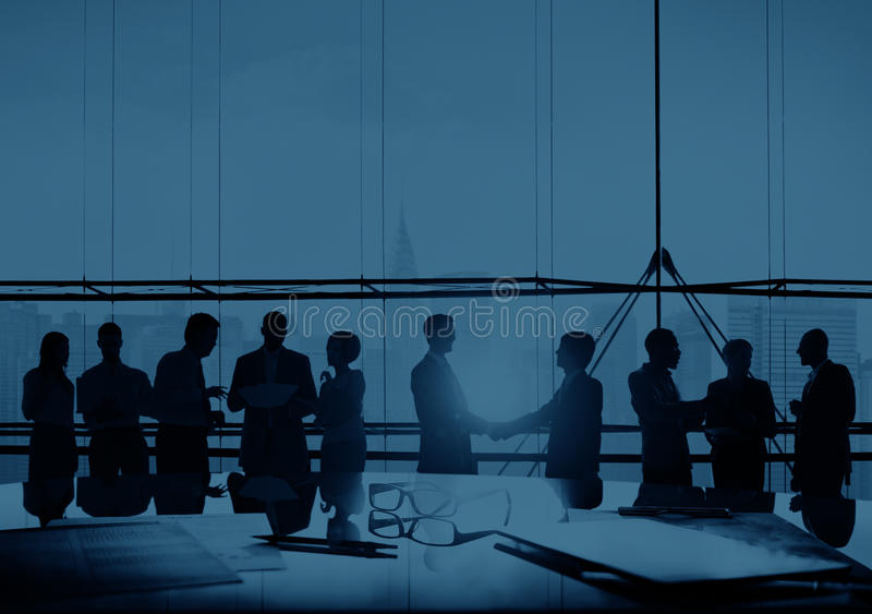Business People Talking Connection Conversation Concept.  stock photo