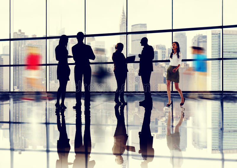 Business People Talking Conversation Communication Concept royalty free stock photos