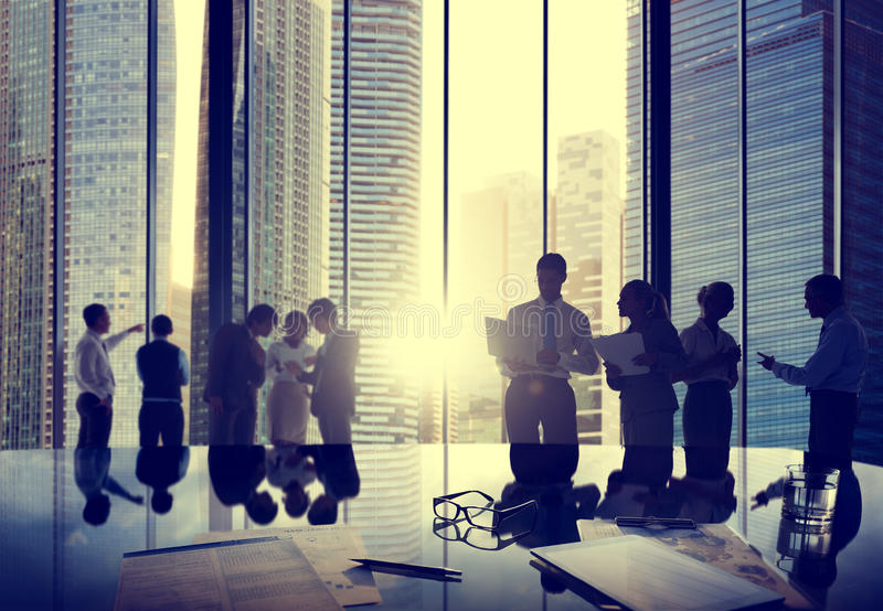 Business People Talking Conversation Communication Interaction C royalty free stock photo