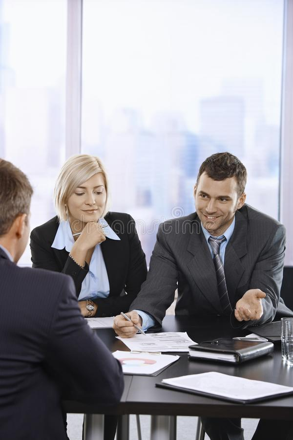 Download Business People Talking At Meeting Stock Photo - Image: 22784792