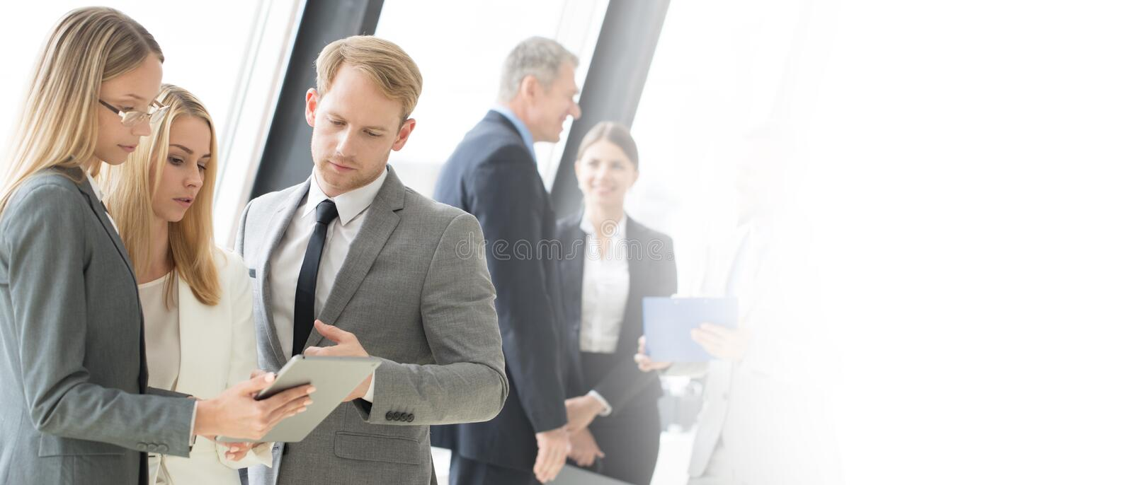 Business people meeting stock image