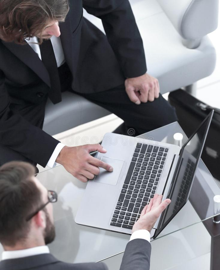 Business people talking on meeting at office stock photo