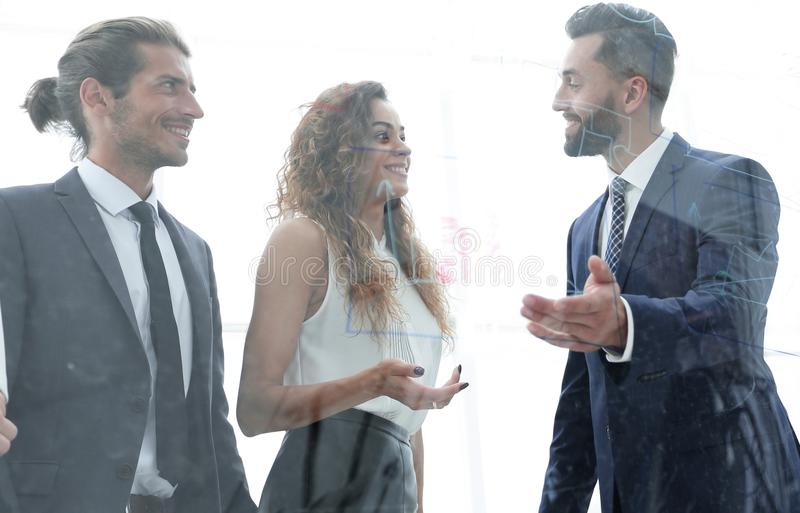 Business people talking in office. Group of business people talking in office.photo with copy space royalty free stock photo