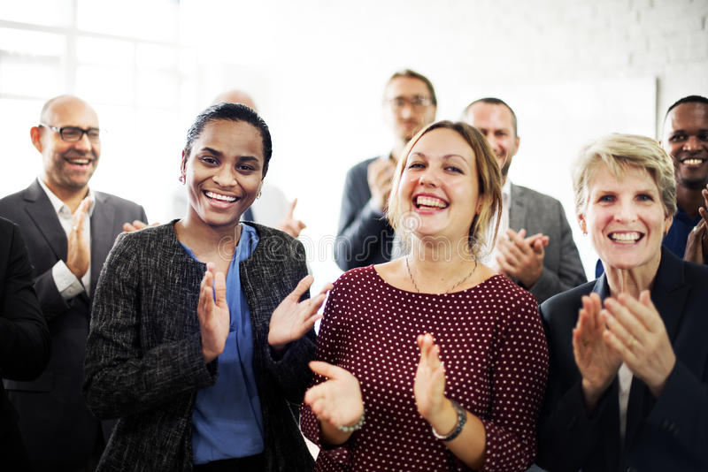 Business People Team Applauding Achievement Concept royalty free stock image