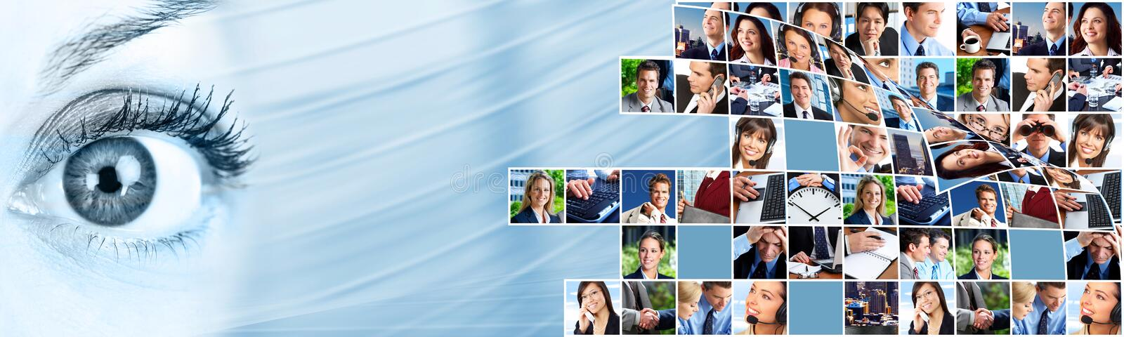 Business people team collage. royalty free stock photos