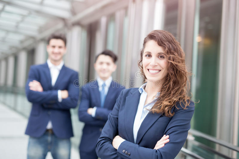 Business people team crossed arm royalty free stock photo