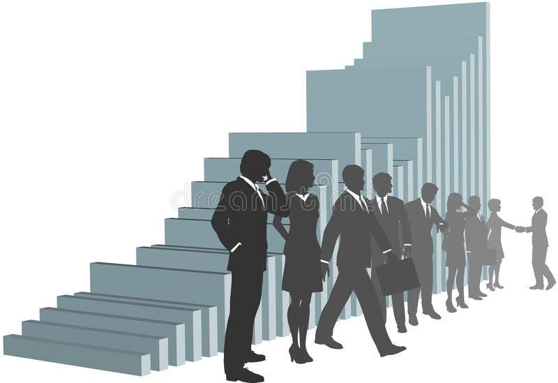 Download Business People Team With Growth Chart Stock Illustration - Image: 11709013