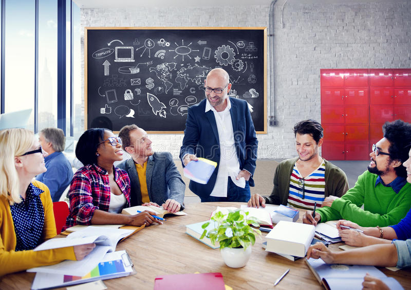 Business People Team Teamwork Cooperation Occupation Partnership. Concept royalty free stock photo