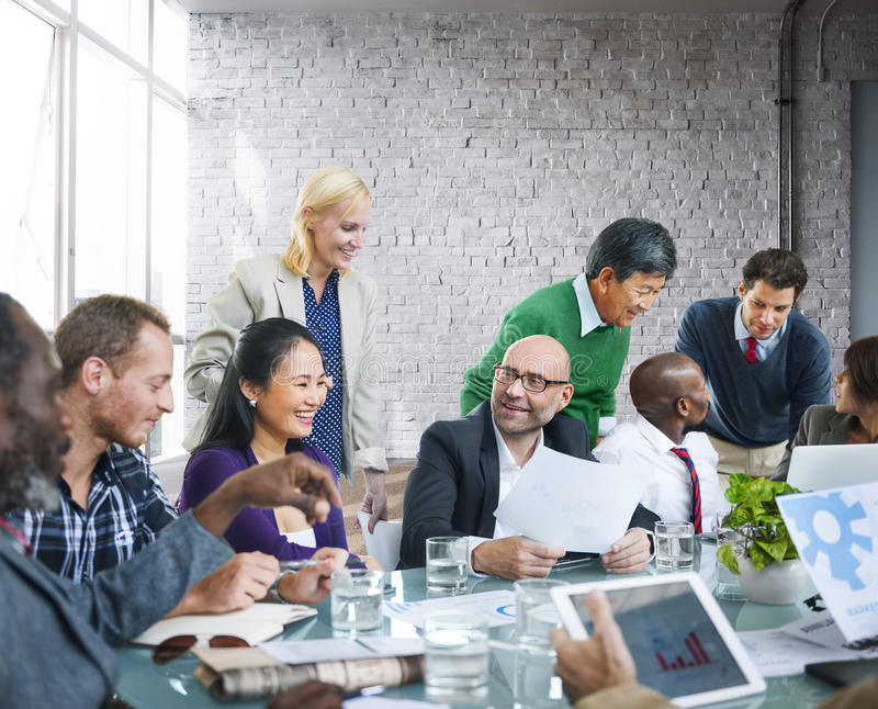 Business People Team Teamwork Cooperation Occupation Partnership. Concept royalty free stock photography