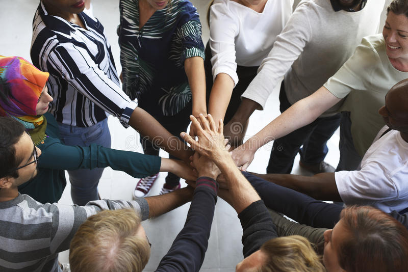Business People Teamwork Cooperation Hands Together. Startup Business People Teamwork Cooperation Hands Together stock images