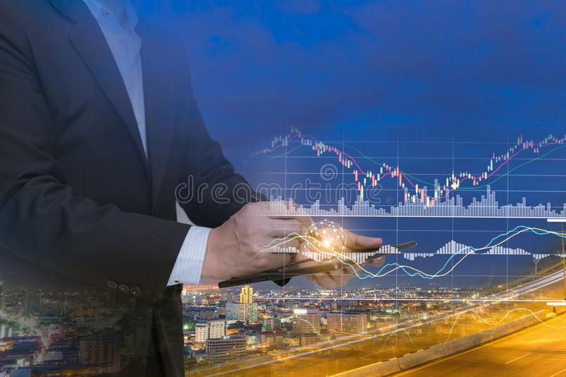 Business people technology business system stock image