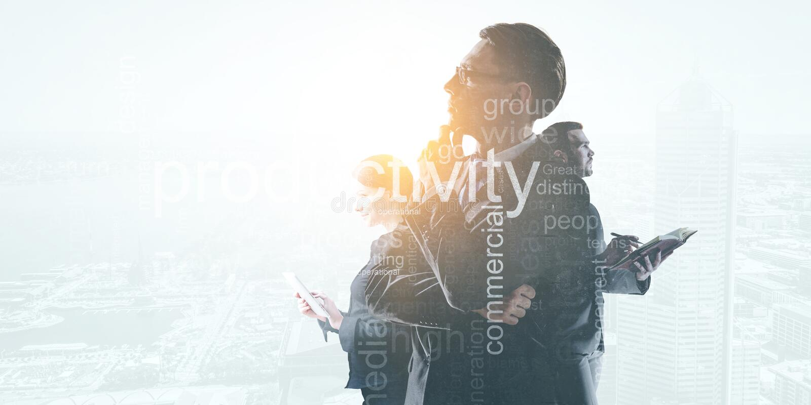 Business people at their work royalty free stock photo
