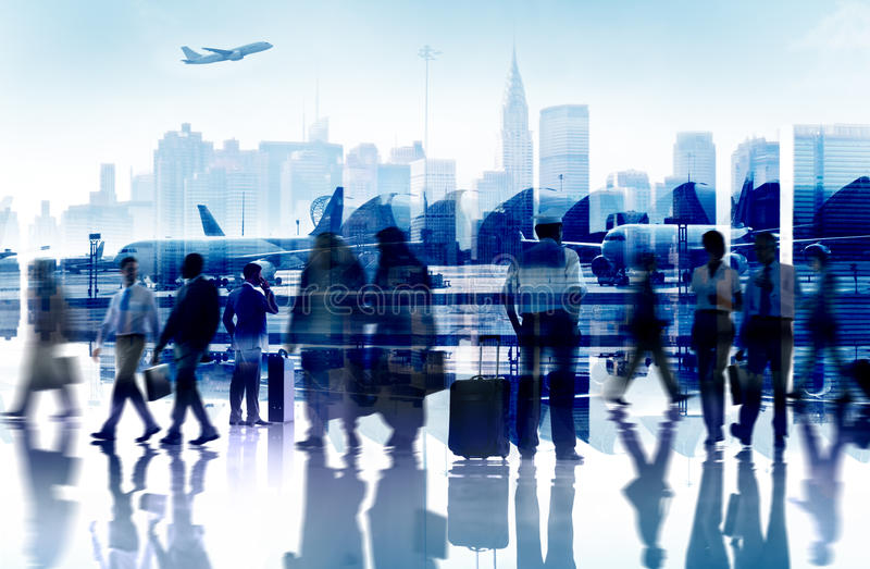 Business People Travel Departure Aiport Passenger Concept. Business People Travel Departure Aiport Passenger Terminal Concept stock photo