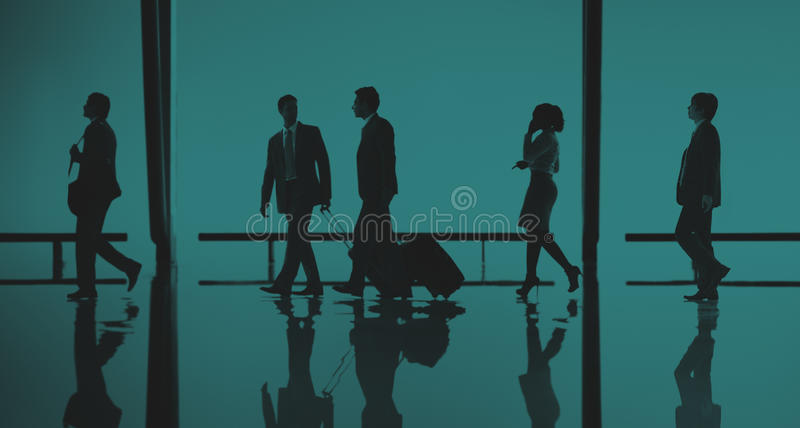 Business People Travel Passenger Walking Concept.  royalty free stock photography