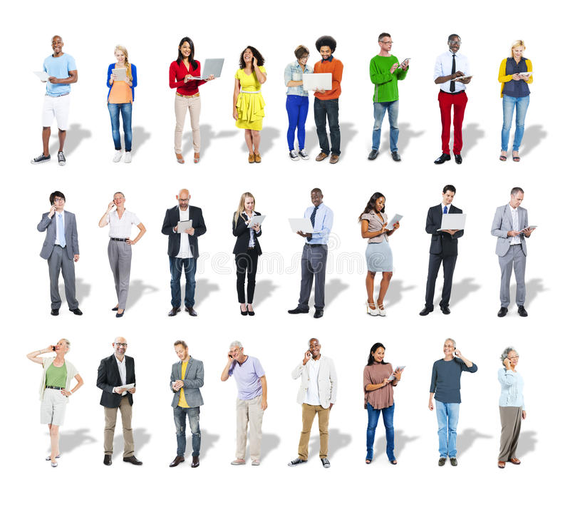 Business People Using Digital Devices.  royalty free stock photography