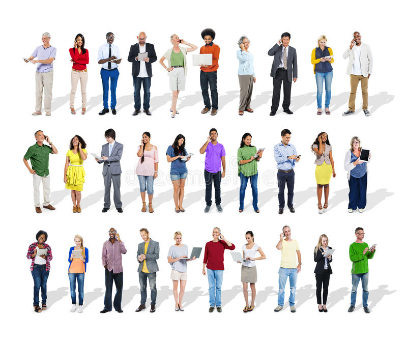 Business People Using Digital Devices royalty free stock image