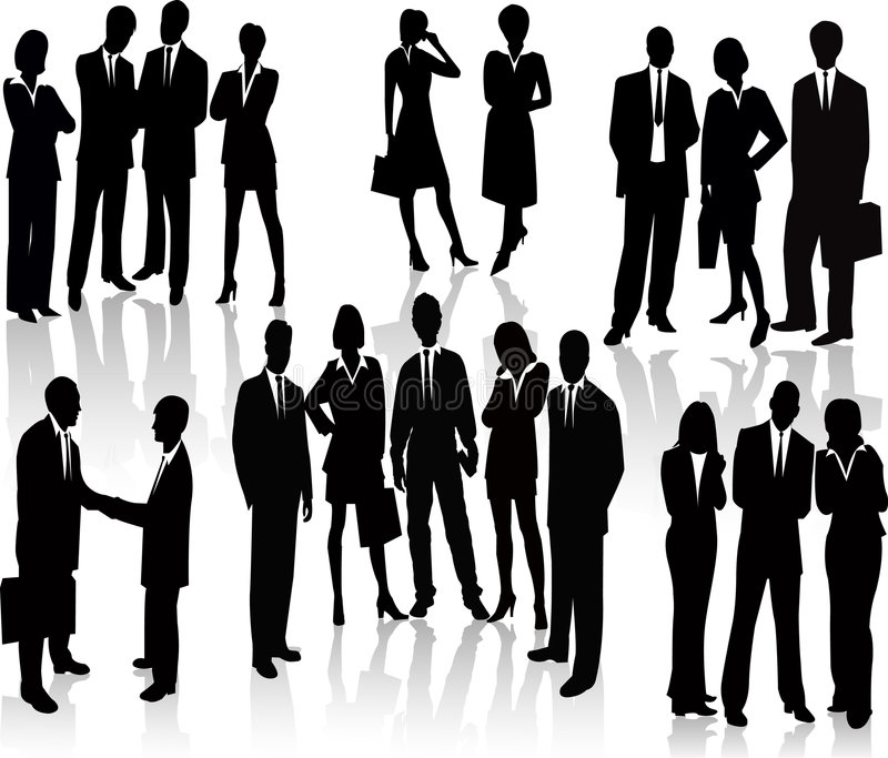 Business People - vector silhouette vector illustration