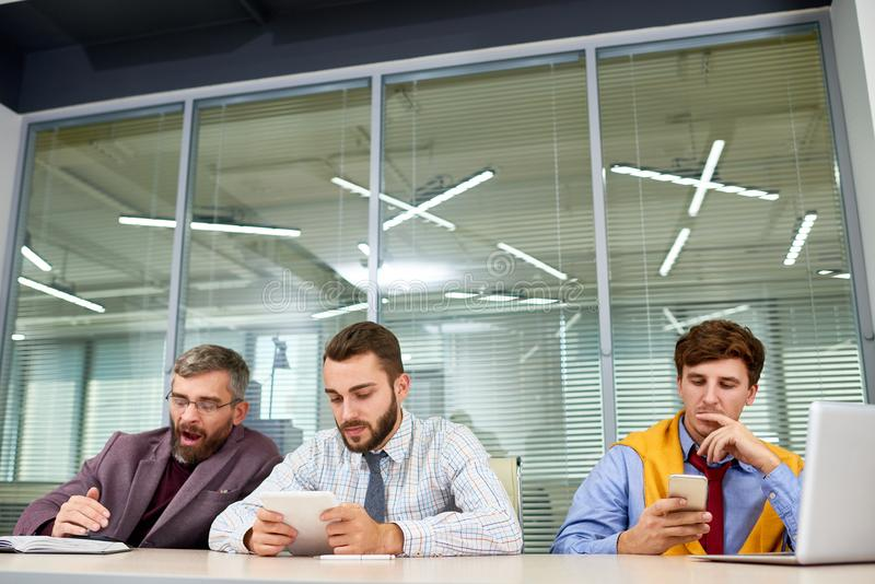 Business People Waiting for Meeting royalty free stock images