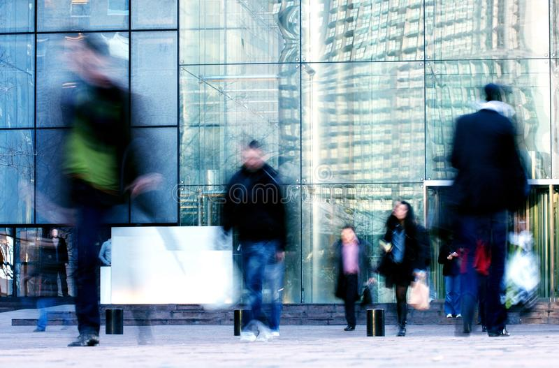 Business people walk in the street royalty free stock photos