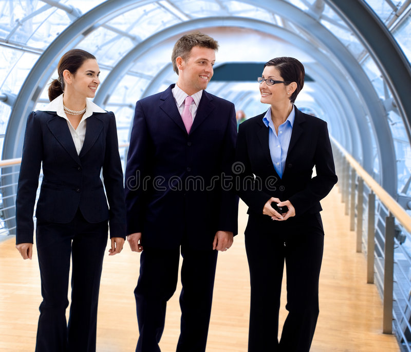 Business people walking stock photo