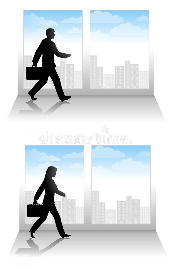Download Business People Walking stock illustration. Illustration of adult - 5460060