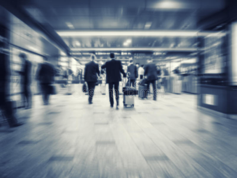 Business People walking Train station Commuter Business travel stock photos