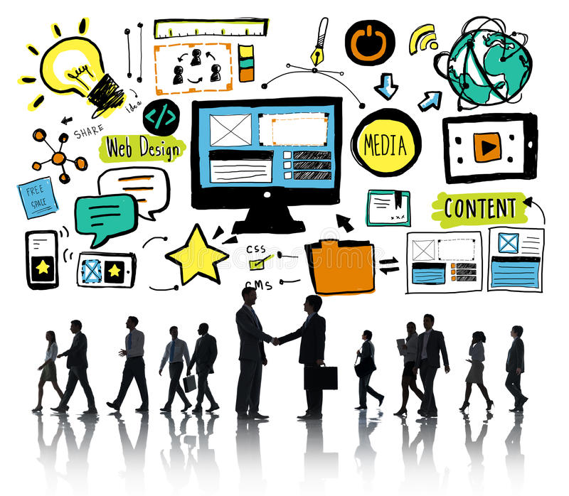 Business People Web Design Content Partnership Concept royalty free stock photos