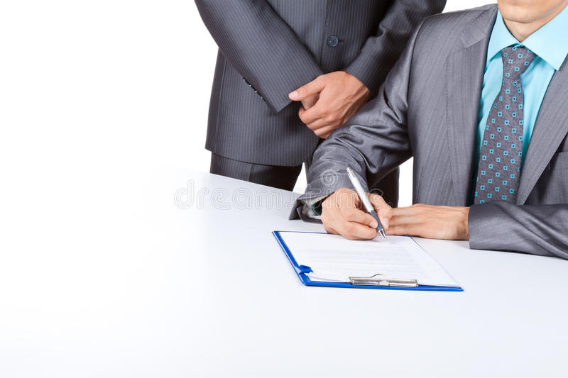 Business people work royalty free stock photos