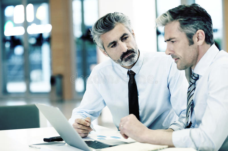 Business people at work in office royalty free stock image