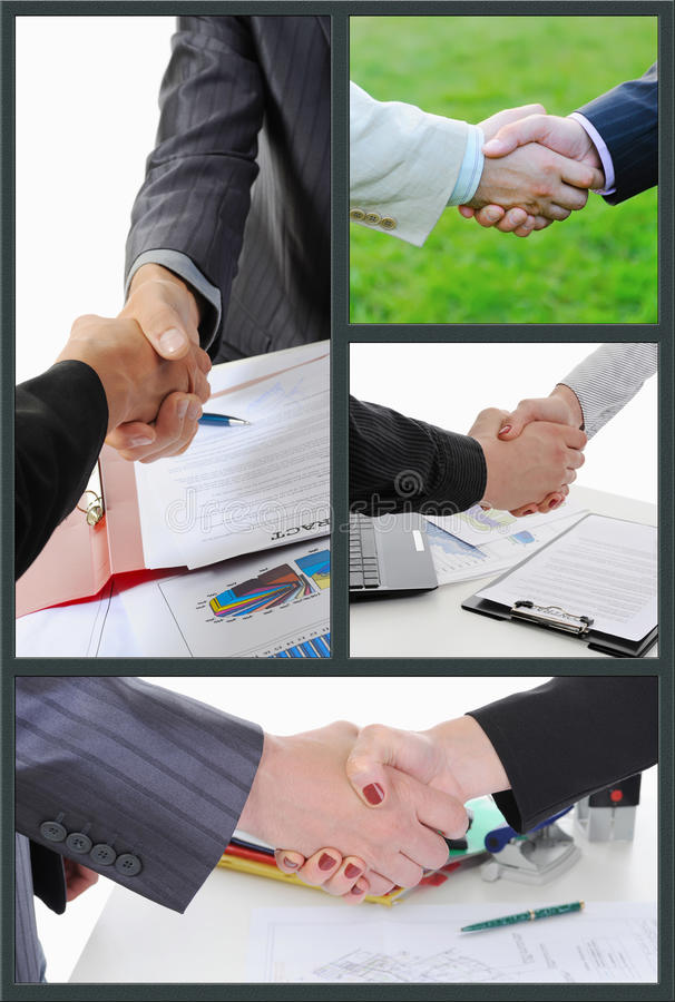 Business People. At work in the office. collage royalty free stock images