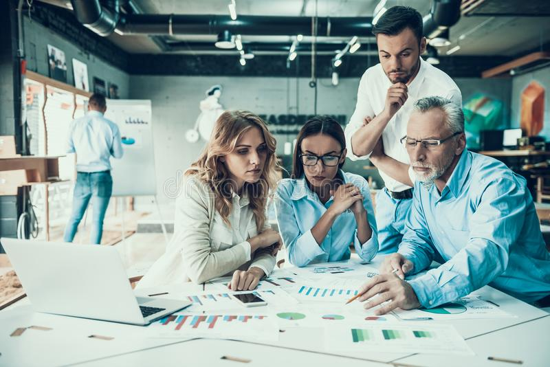 Business People at Work in Office Teamwork Concept stock image