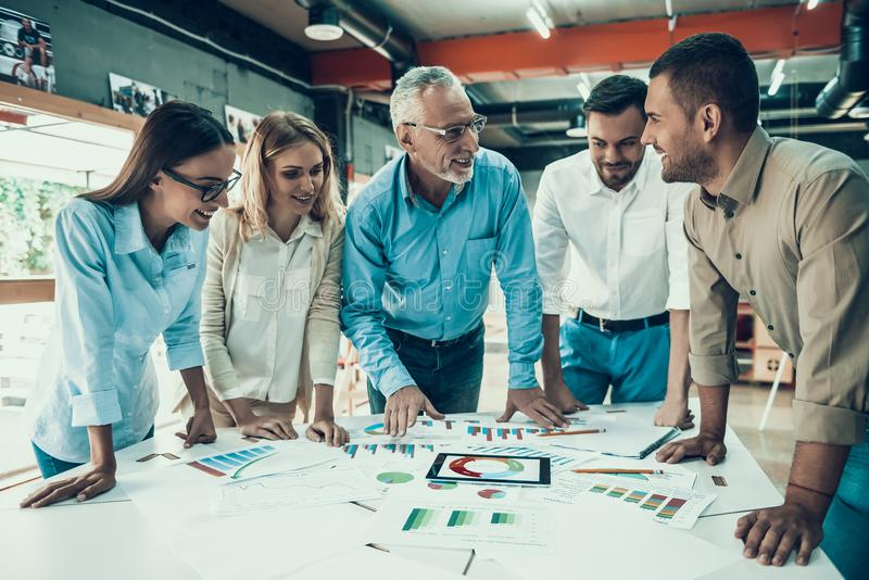 Business People at Work in Office Teamwork Concept royalty free stock photos