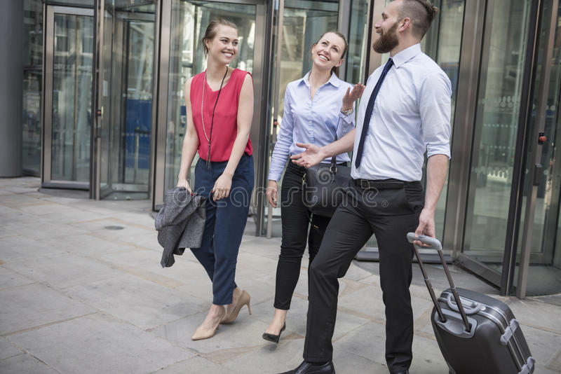Business people after work stock photography