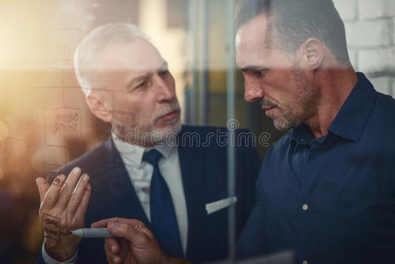 Business people work together. concept of teamwork, partnership and success royalty free stock photos