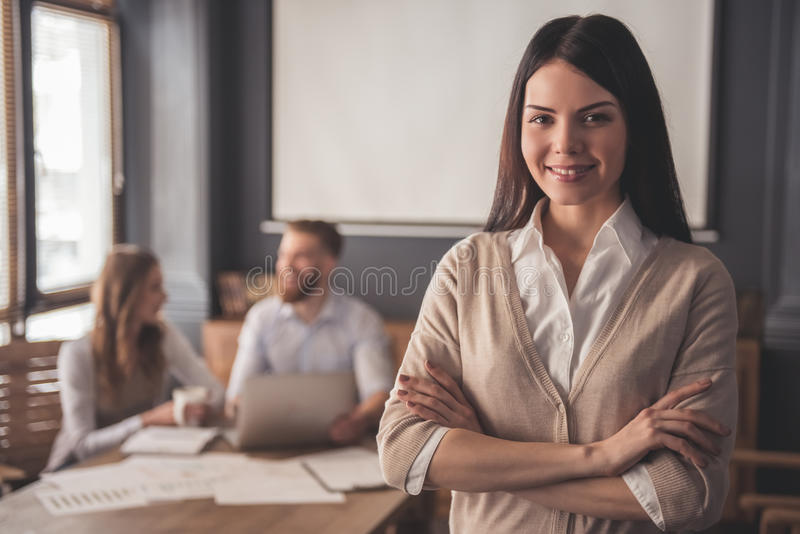 Business people working stock image