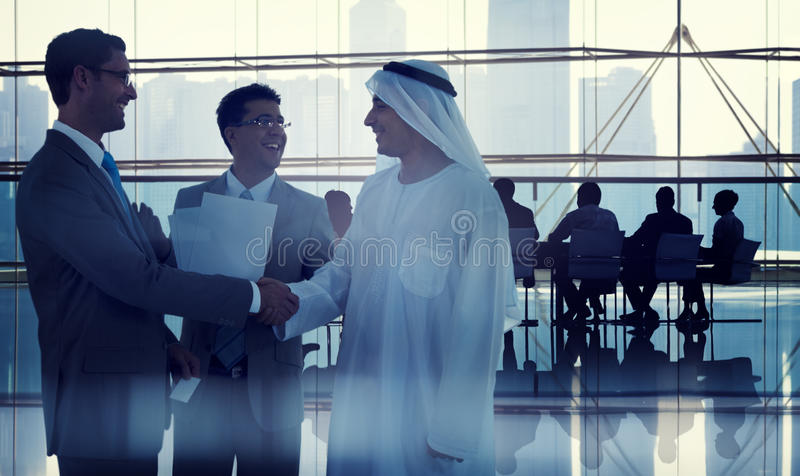 Business People Working in a Board Room royalty free stock photos