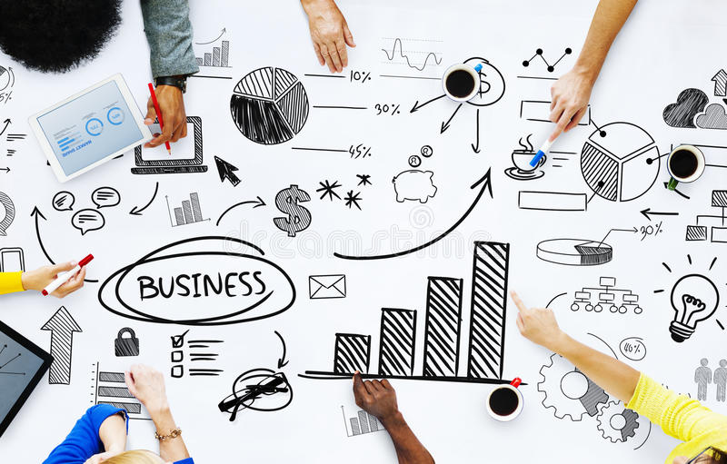 Business People Working With Business Issues Stock Image - Image of
