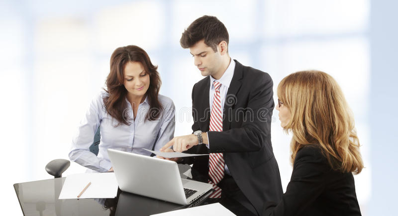 Business People Working In Group Stock Photo
