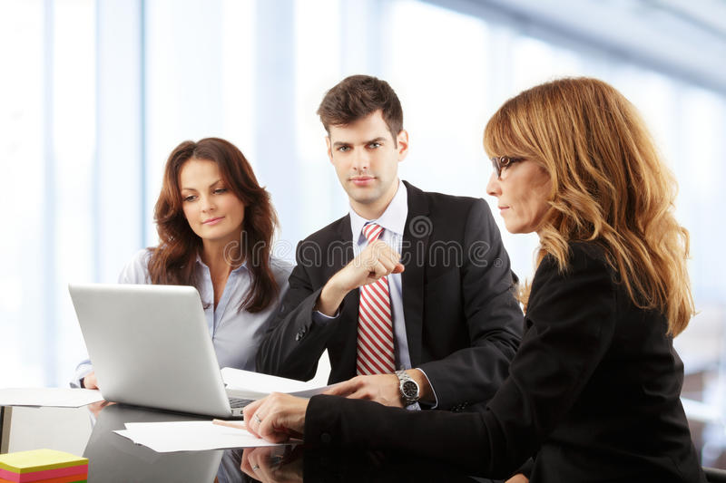 Download Business People Working In Group Stock Image - Image: 36875433