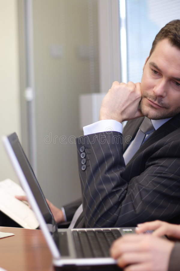Free Business People Working In The Office Royalty Free Stock Image - 1781386