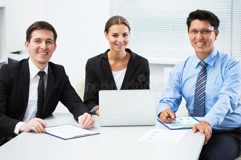 Business people working in an office royalty free stock photos