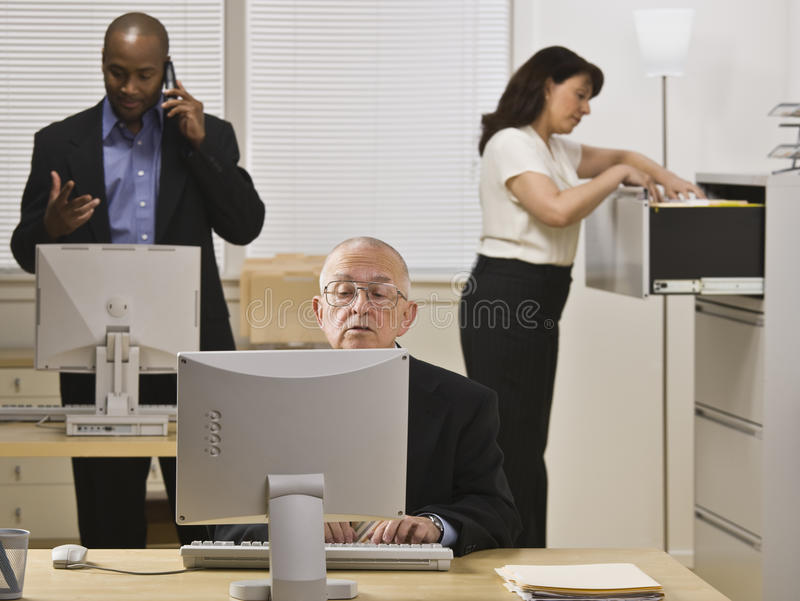 Business People Working in Office stock photos