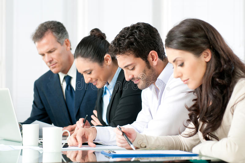 Business people working in office royalty free stock images