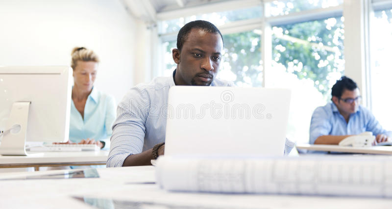 Business People Working in the Office stock images