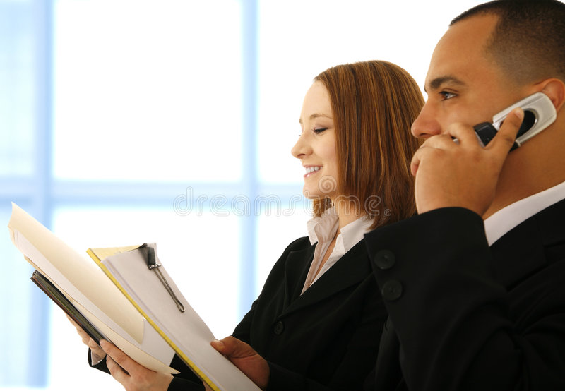 Business People Working At Office stock photography