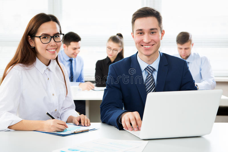 Download Business People Working In An Office Stock Photo - Image: 83705948