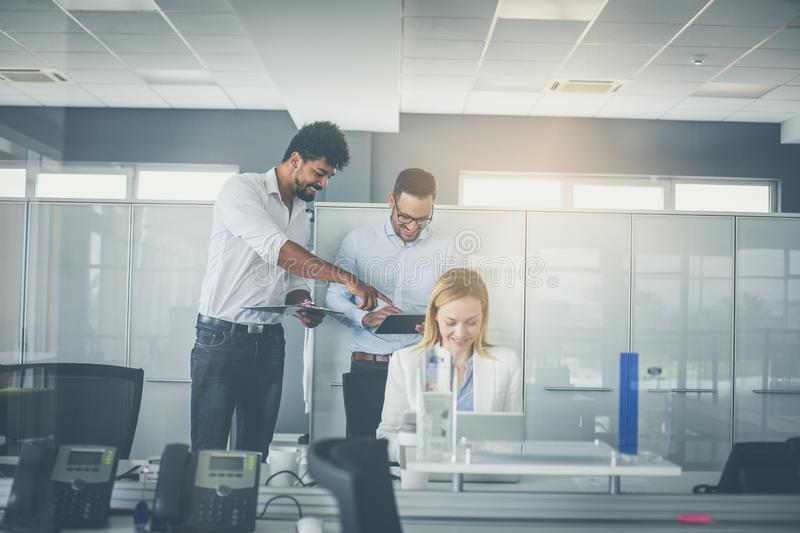 Team work in office. royalty free stock images