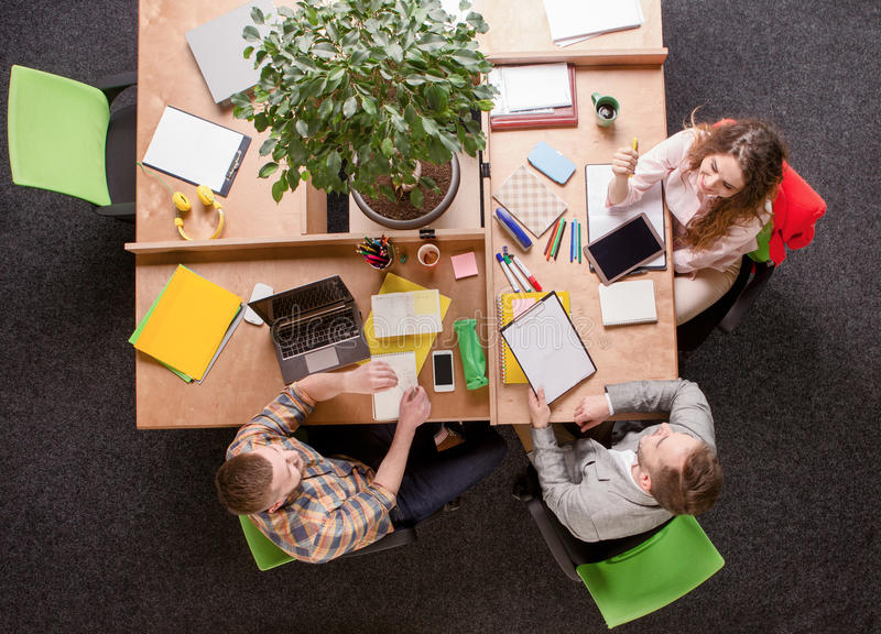 Business people working in office royalty free stock image