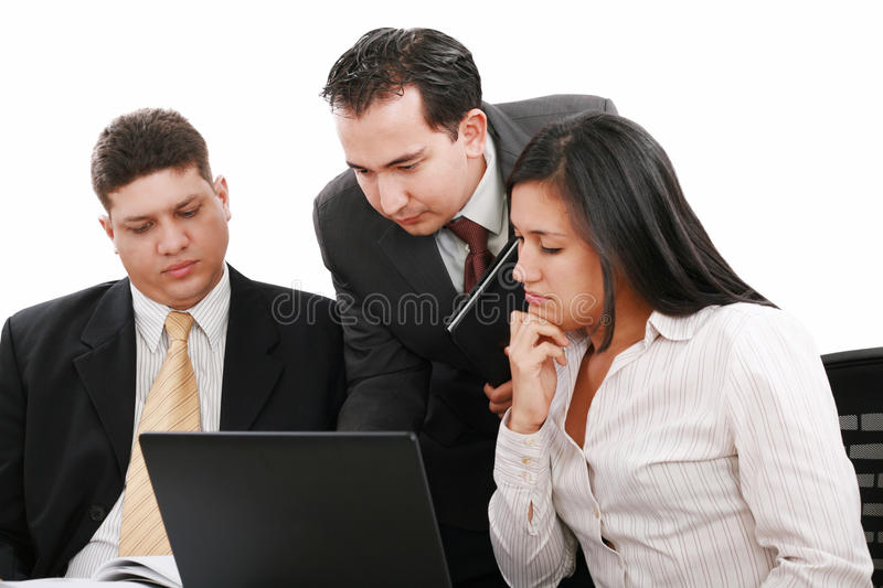 Business people working in team in the office stock photography